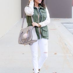 Cozy Lace Sweater + Chloe Bag Dupe