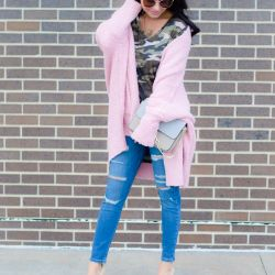 Oversized Cozy Pink Sweater
