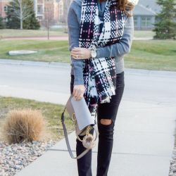 Scarf, Sweater, & Ripped Jeans - all under $25!