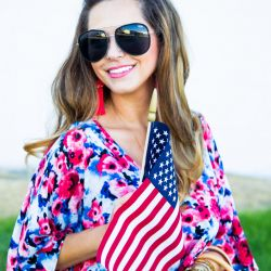 Floral Tunic for 4th of July + Gucci Bag Giveaway