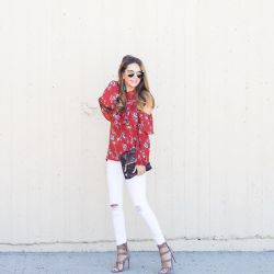 Trending For Fall: Cold Shoulders, Red Hues, & Ruffle Details + 20% Discount Code