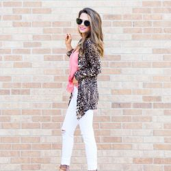 Leopard Cardigan for $29, Favorite White Jeans + the Launch of Jess Lea Clothing Line