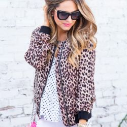 Leopard Bomber Jacket for Fall + Grand Opening of EVEREVE at Village Pointe