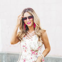 Easy Breezy Floral Peplum Tank for Your Summer Weekends + 10% Discount