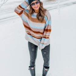 Snow Day in the Cutest $20 Sweater + Huge American Eagle Sale