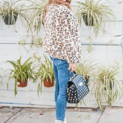 Trend Alert! Under $50 Leopard Jacket + White Booties that Don't Break the Bank