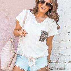 $32 Leopard Pocket Tee, a New Boutique to Love + Life Update