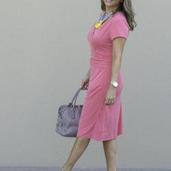 Pink Wrap Dress + Sample Sale