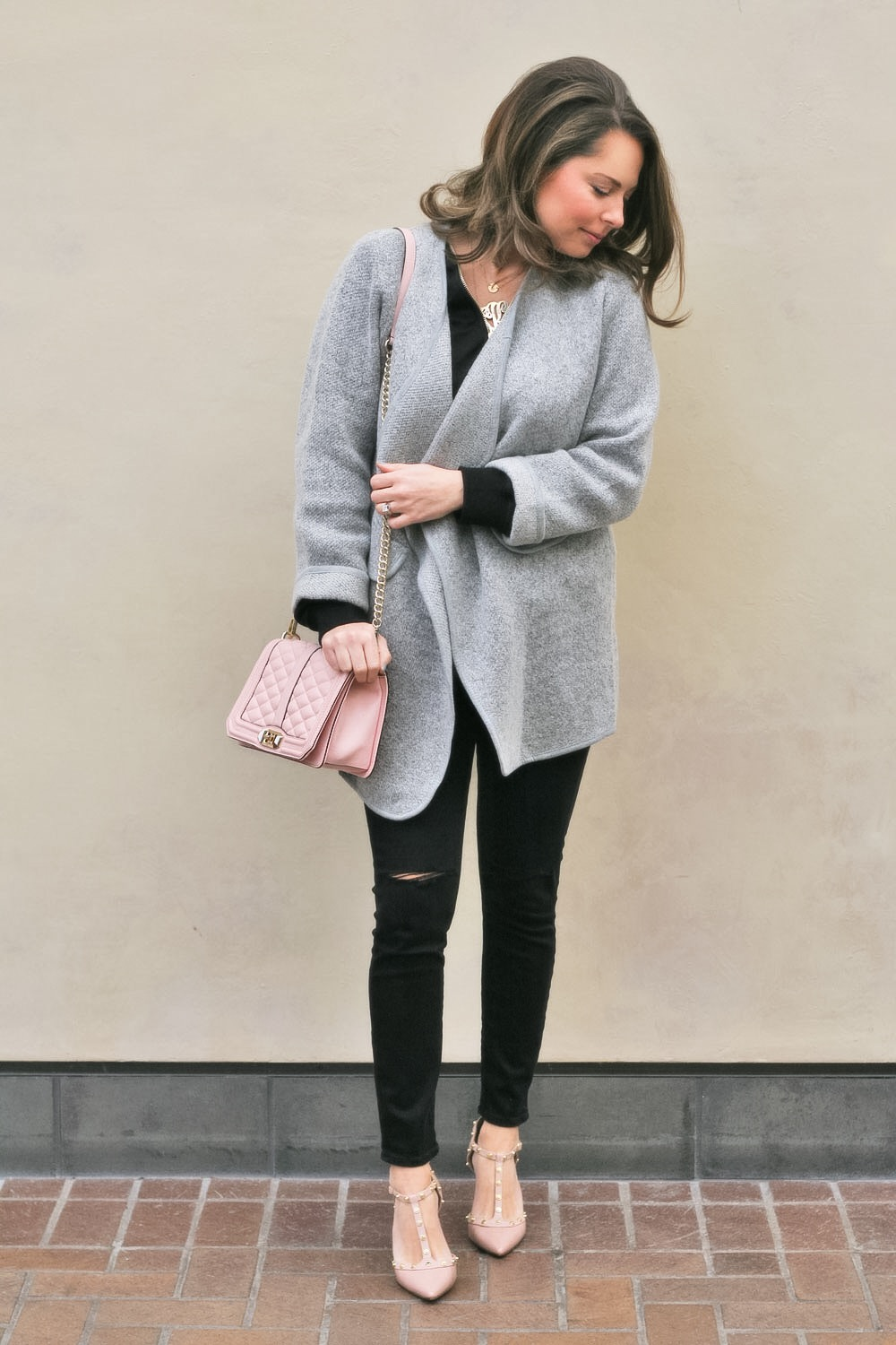 Black, Pink   Chic Gray Sweater Coat! | Sabby Style