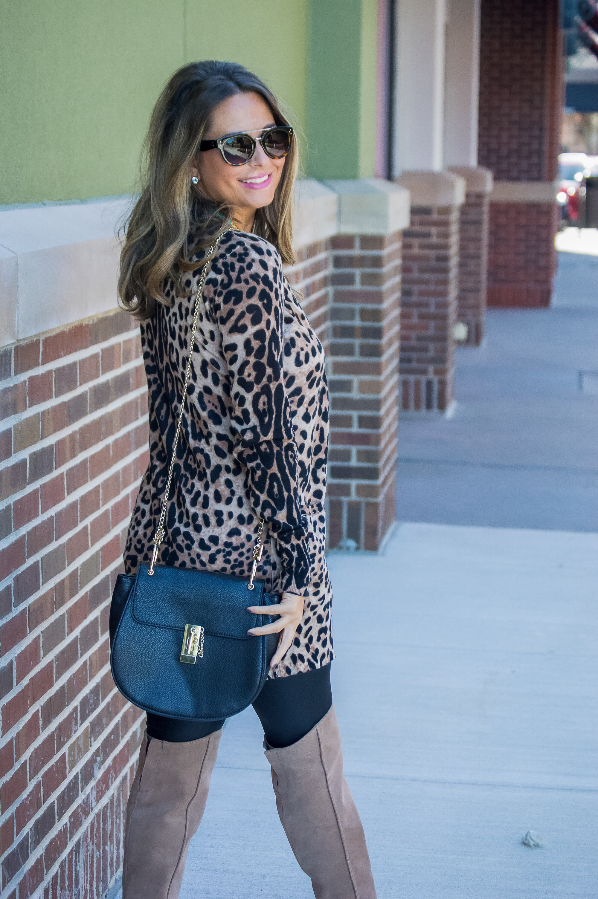 Leopard Cardigan   OTK Boots | Sabby Style