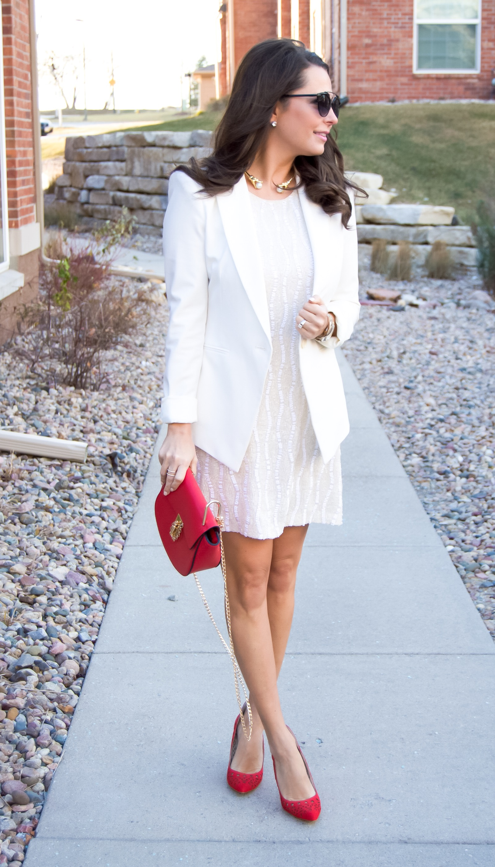 winter white dress for nye glam sabby stylesabby style