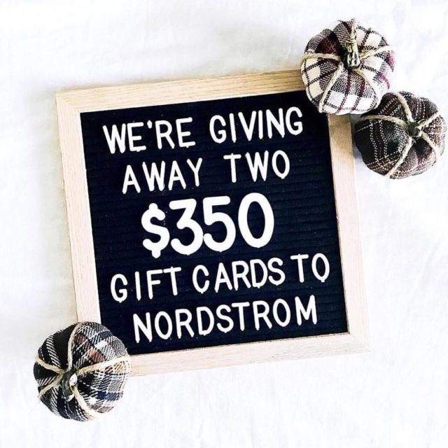 Last call to win TWO 350 Nordstrom Gift Cards justhellip