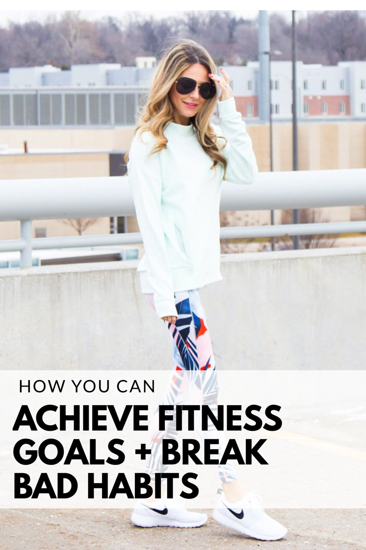 Fitness Goals, Fitness motivation, achieving goals, breaking old habits, activewear, athleisure