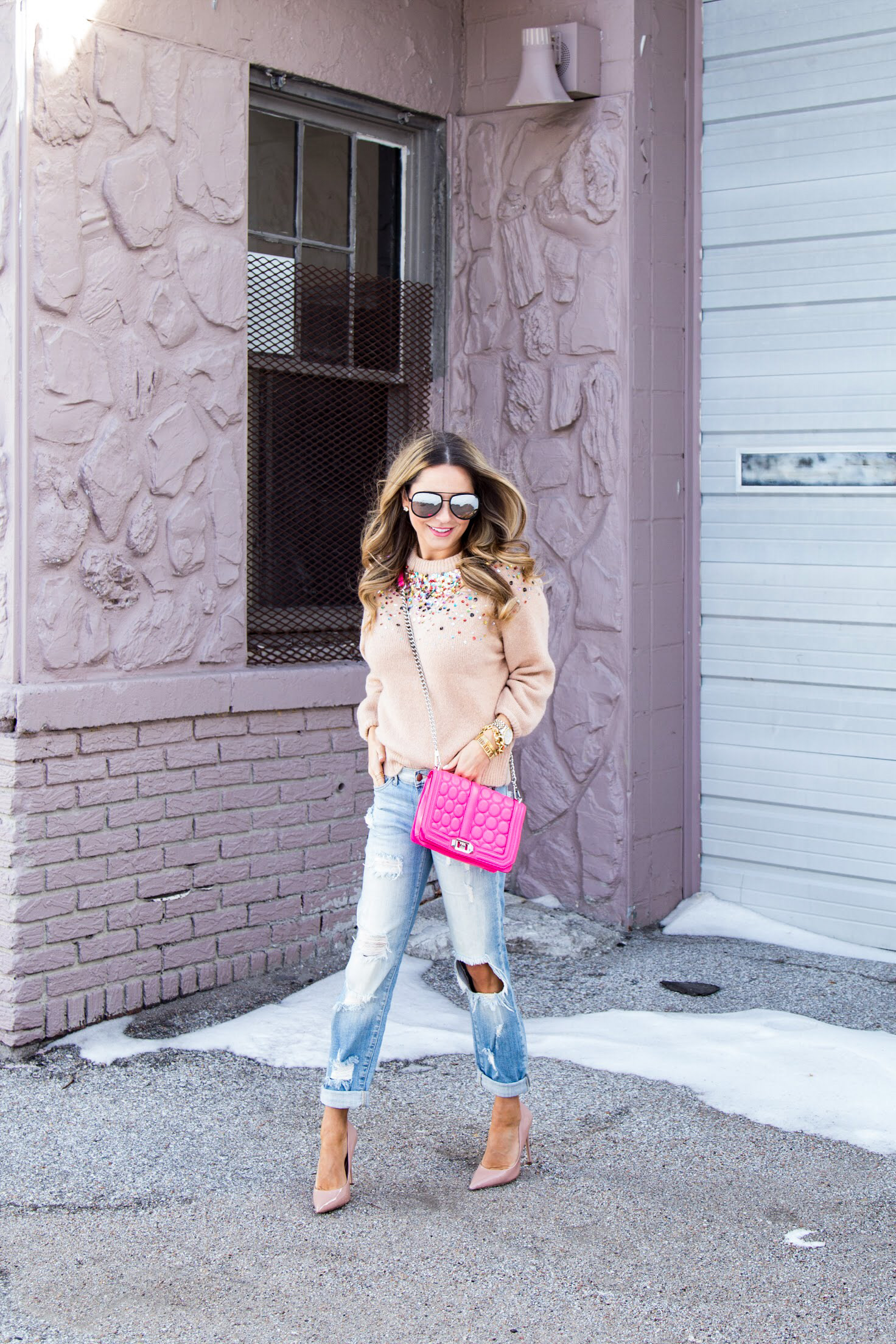 Omaha fashion blogger, affordable fashion, SheIn sweater