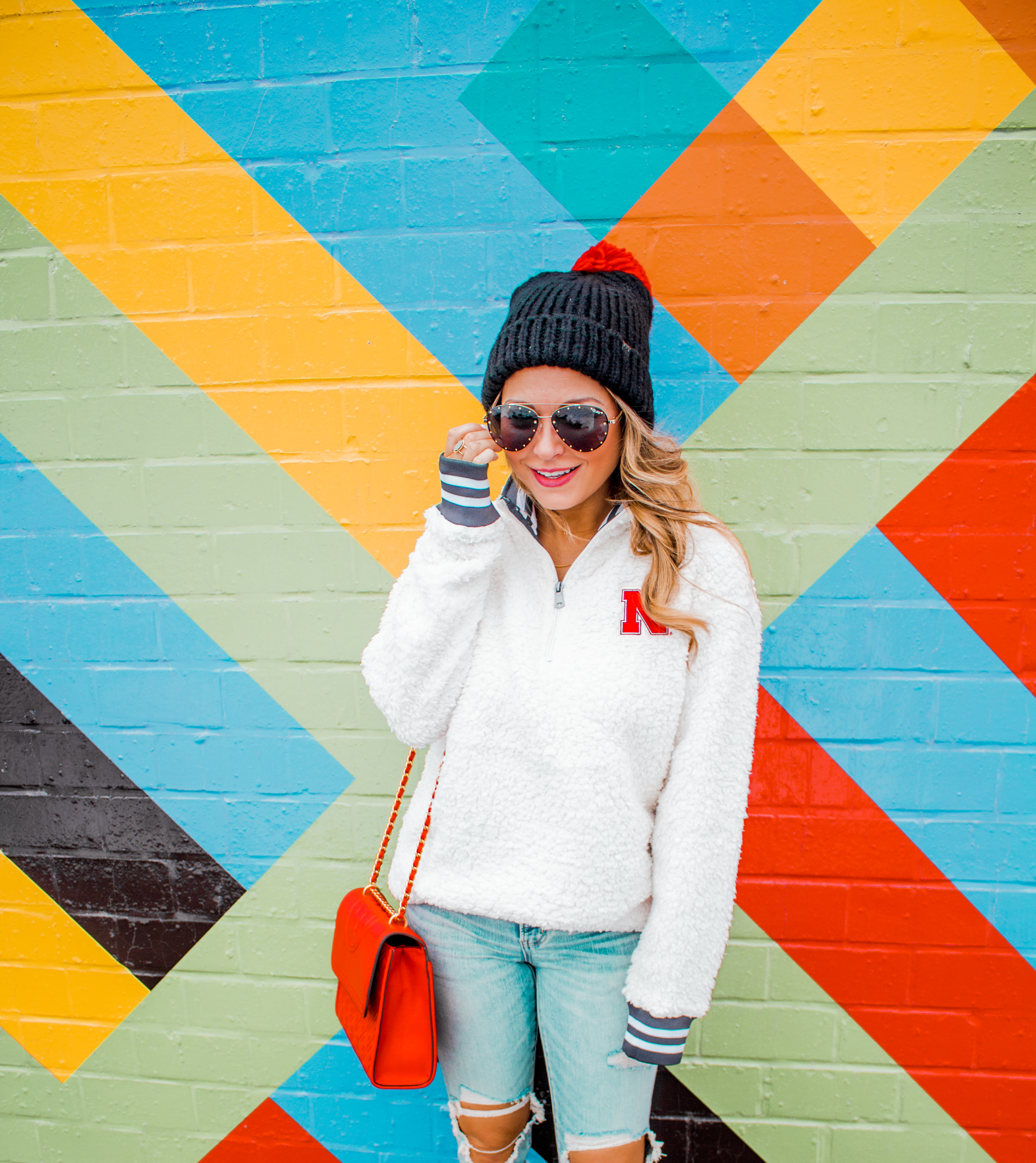 Nebraska - Women's Fashion - Sherpa - Husker - Pullover - Husker Gear - Omaha Blogger - Sabby Style - Casual Outfit - 16