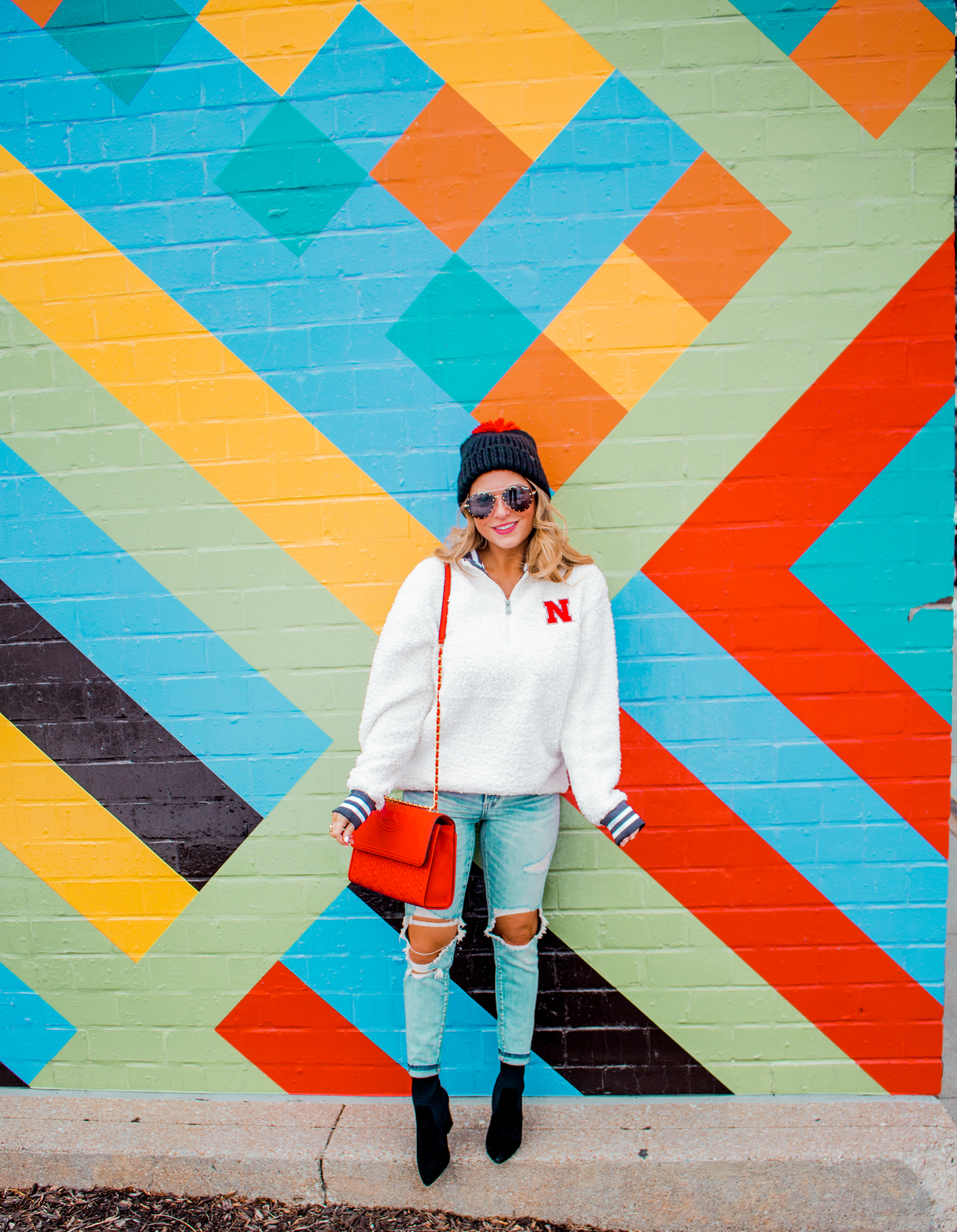 Nebraska - Women's Fashion - Sherpa - Husker - Pullover - Husker Gear - Omaha Blogger - Sabby Style - Casual Outfit - 11