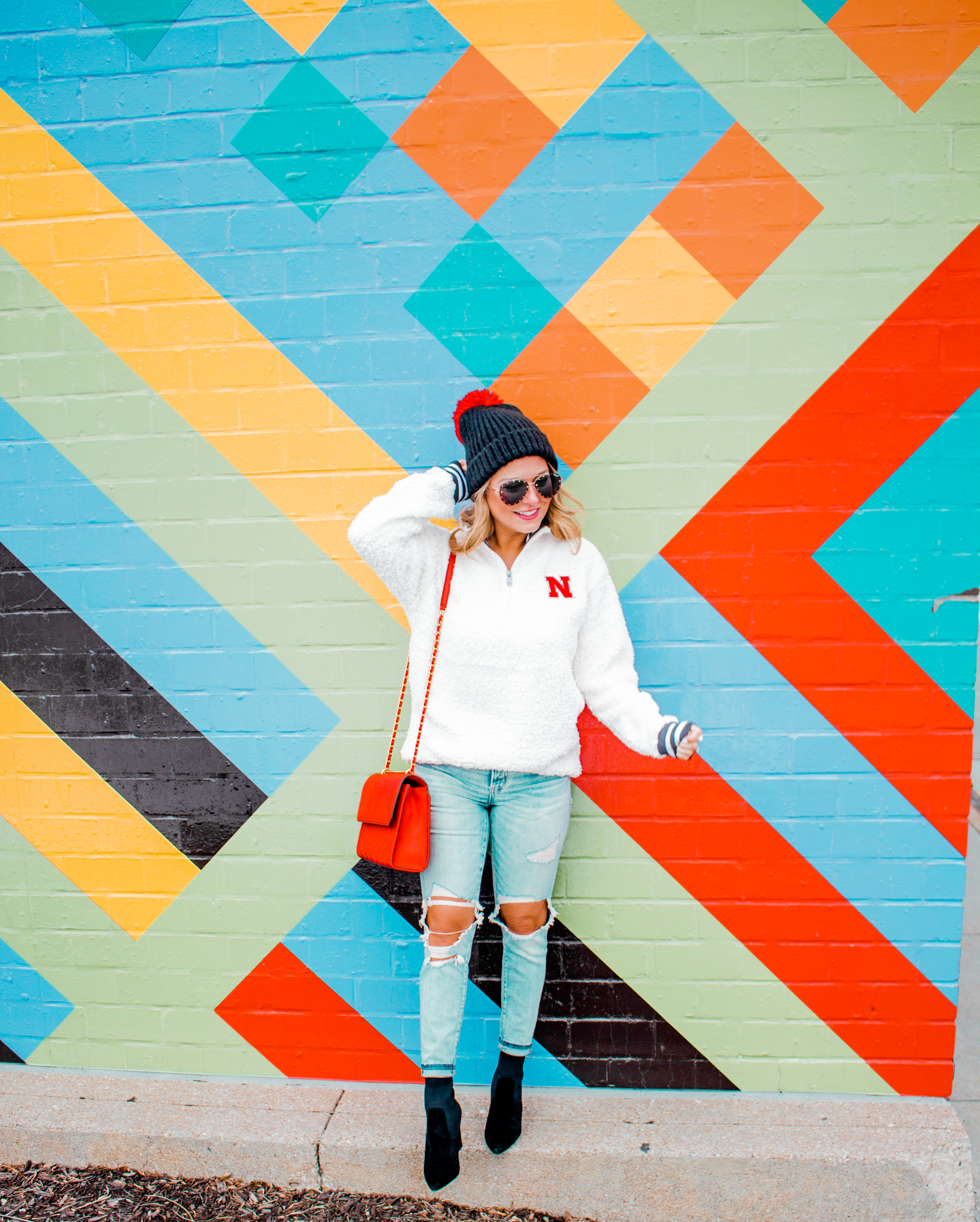 Nebraska - Women's Fashion - Sherpa - Husker - Pullover - Husker Gear - Omaha Blogger - Sabby Style - Casual Outfit - 15