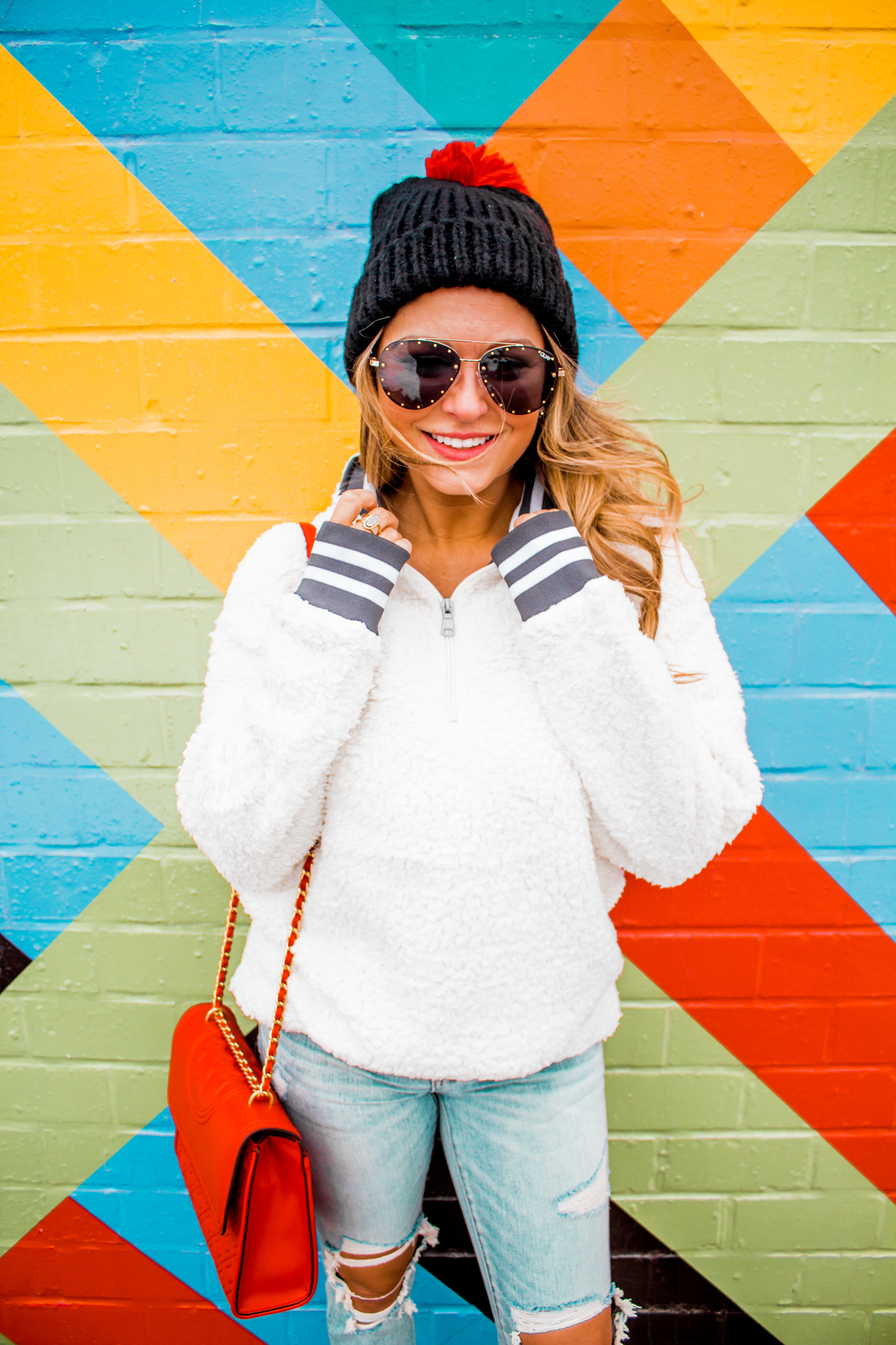 Nebraska - Women's Fashion - Sherpa - Husker - Pullover - Husker Gear - Omaha Blogger - Sabby Style - Casual Outfit - 8