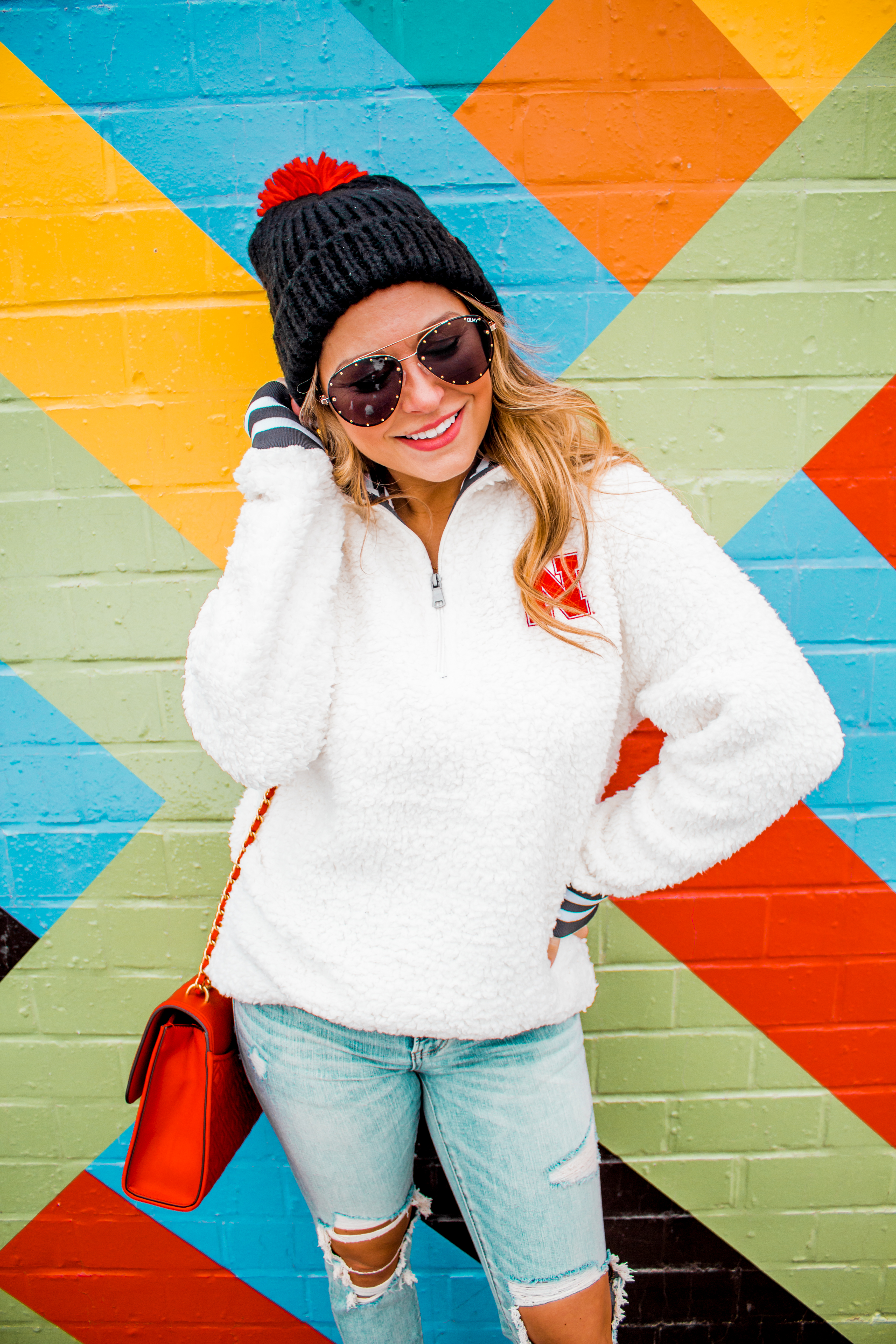 Nebraska - Women's Fashion - Sherpa - Husker - Pullover - Husker Gear - Omaha Blogger - Sabby Style - Casual Outfit - 12