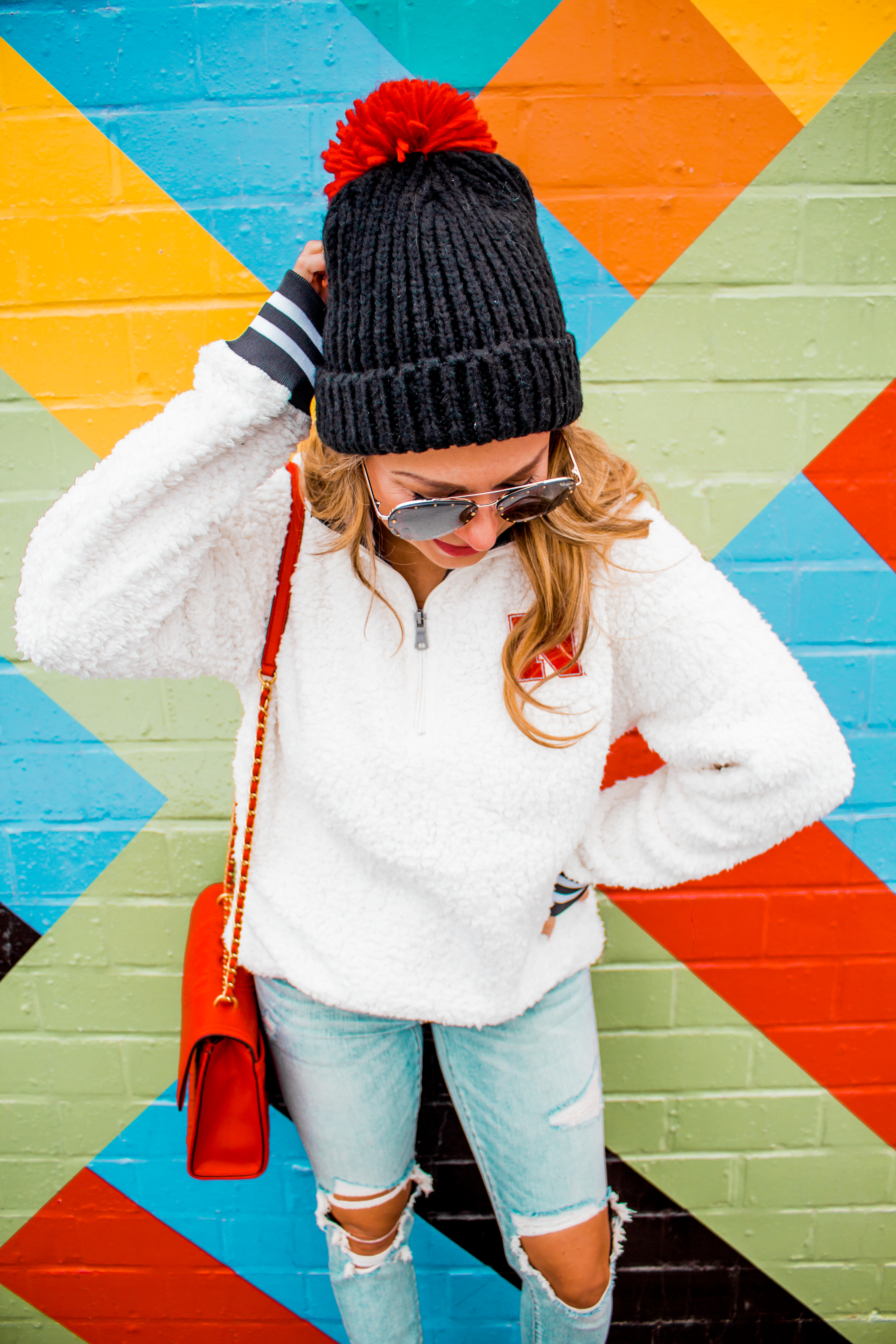 Nebraska - Women's Fashion - Sherpa - Husker - Pullover - Husker Gear - Omaha Blogger - Sabby Style - Casual Outfit - 4