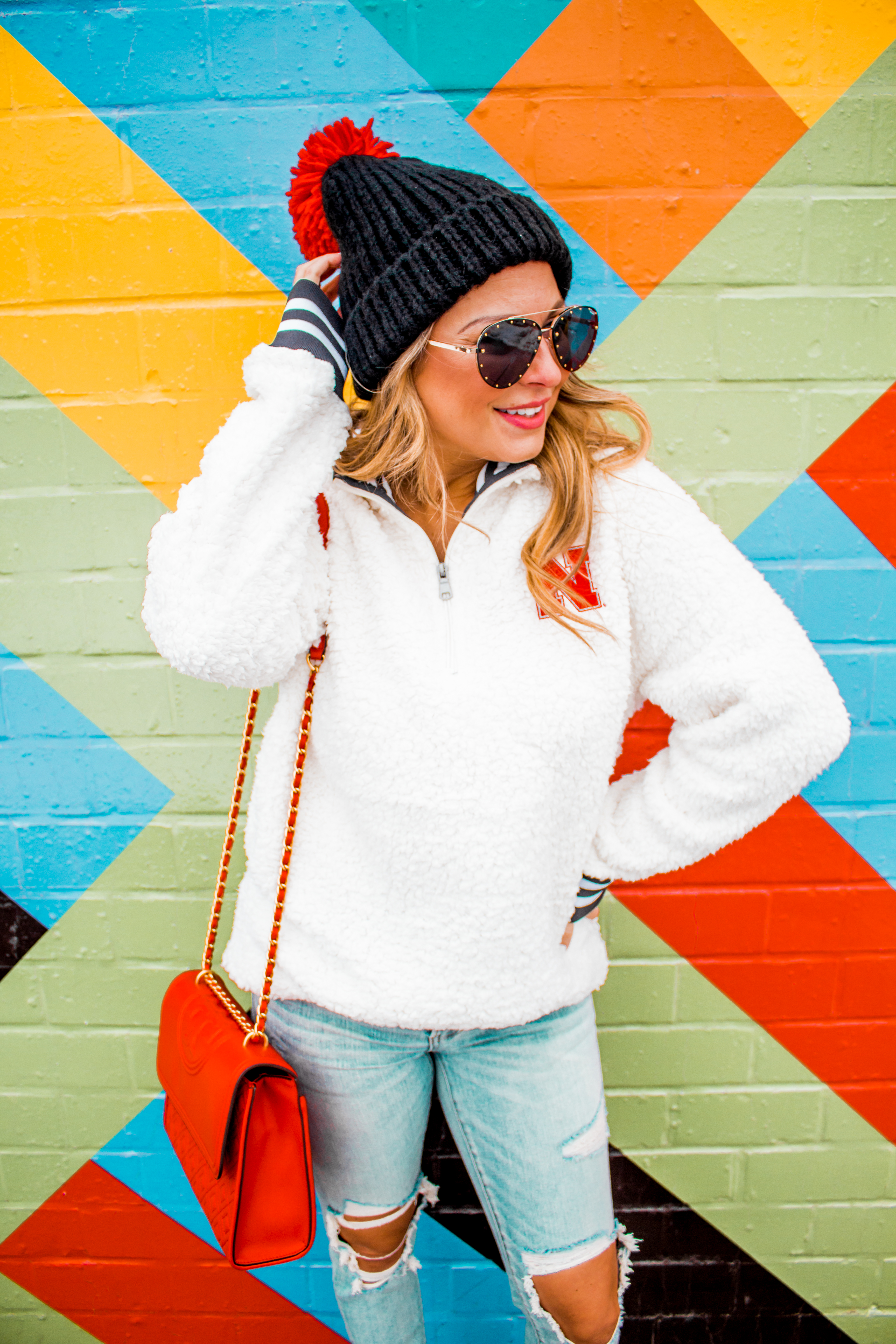 Nebraska - Women's Fashion - Sherpa - Husker - Pullover - Husker Gear - Omaha Blogger - Sabby Style - Casual Outfit - 6