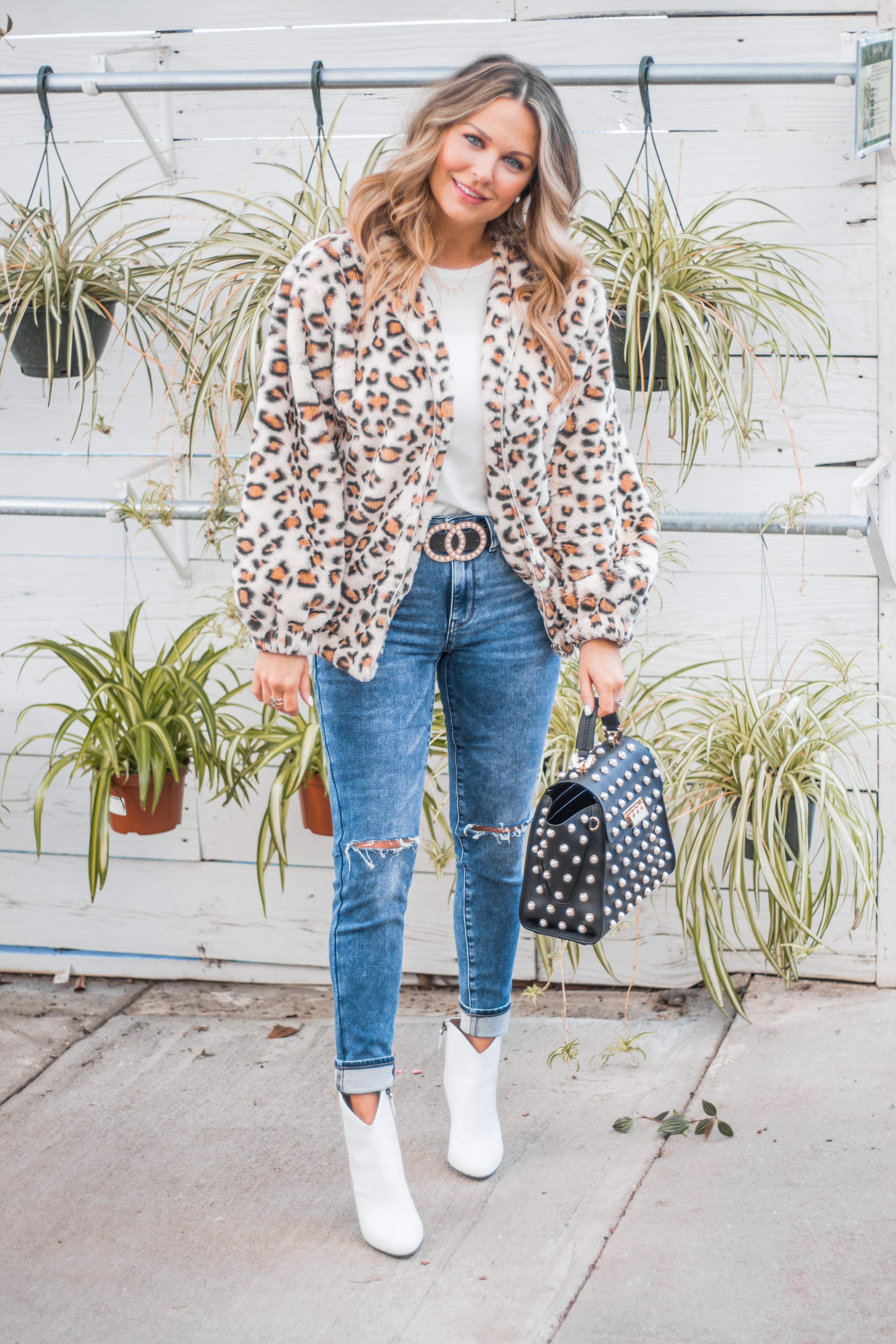Women's Fashion - White Boots - Leopard Jacket - Spring Fashion - Winter Fashion - Zac Posen Eartha - Outfit Inspo - OOTD - 7