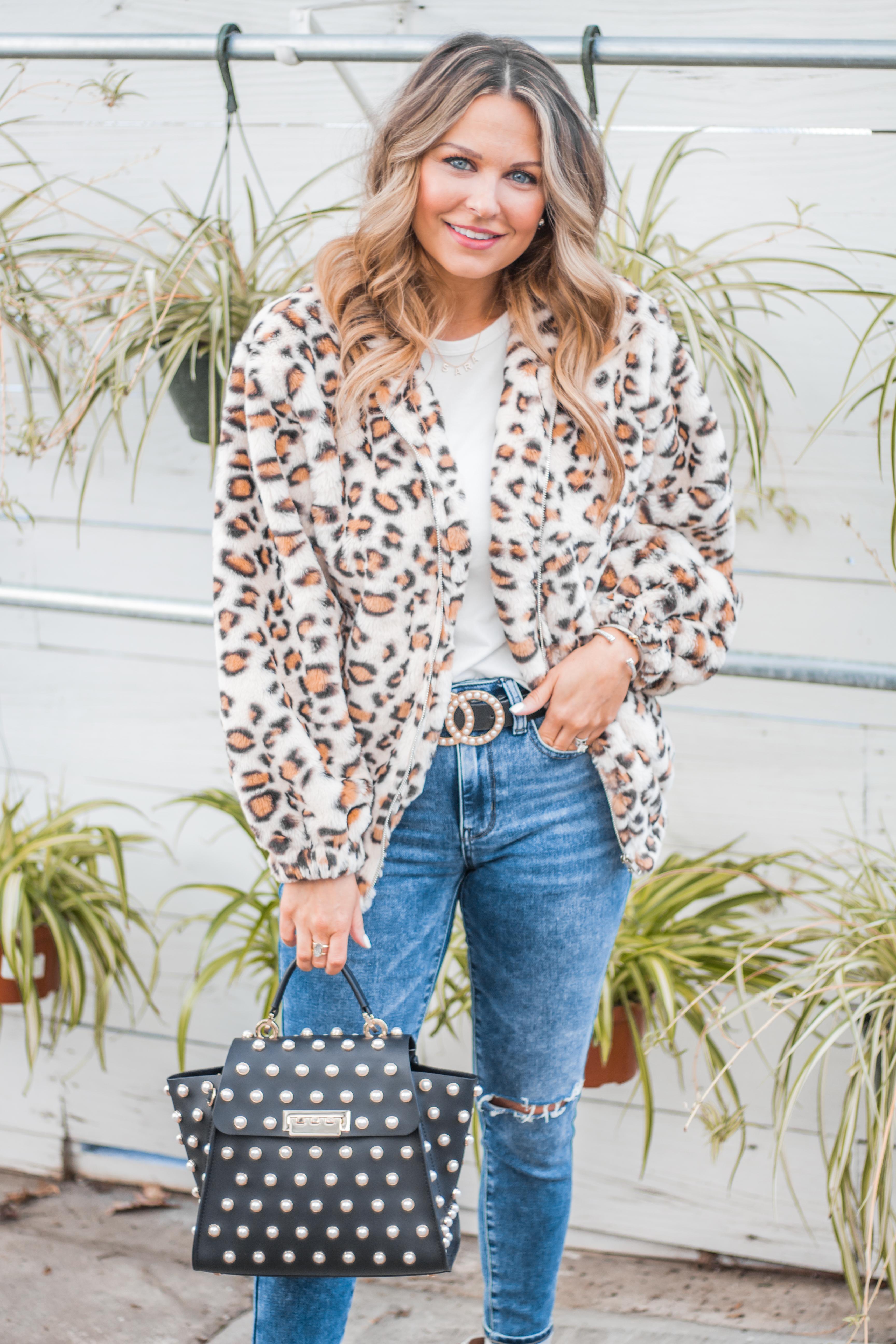 Women's Fashion - White Boots - Leopard Jacket - Spring Fashion - Winter Fashion - Zac Posen Eartha - Outfit Inspo - OOTD - 6