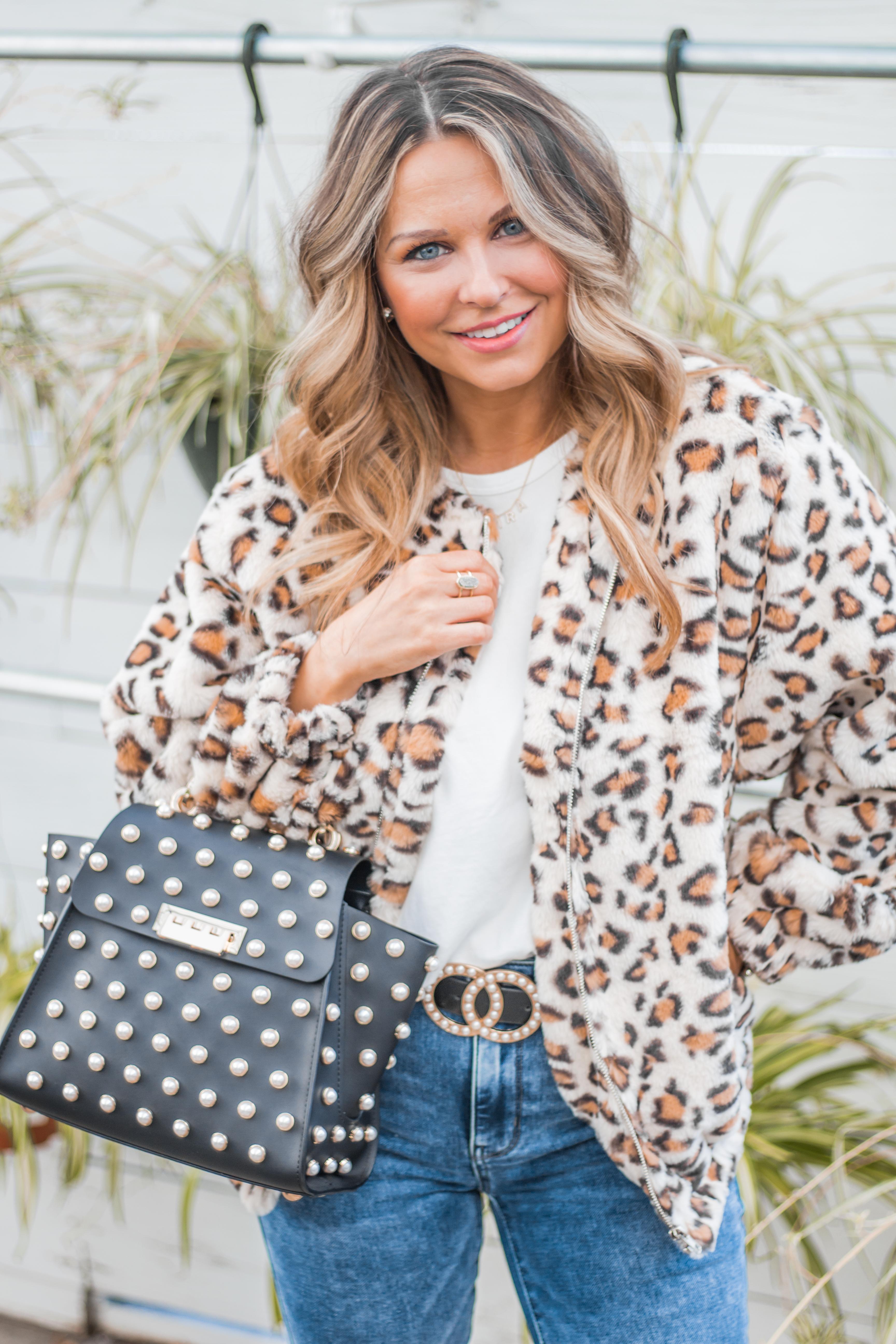 Women's Fashion - White Boots - Leopard Jacket - Spring Fashion - Winter Fashion - Zac Posen Eartha - Outfit Inspo - OOTD - 11