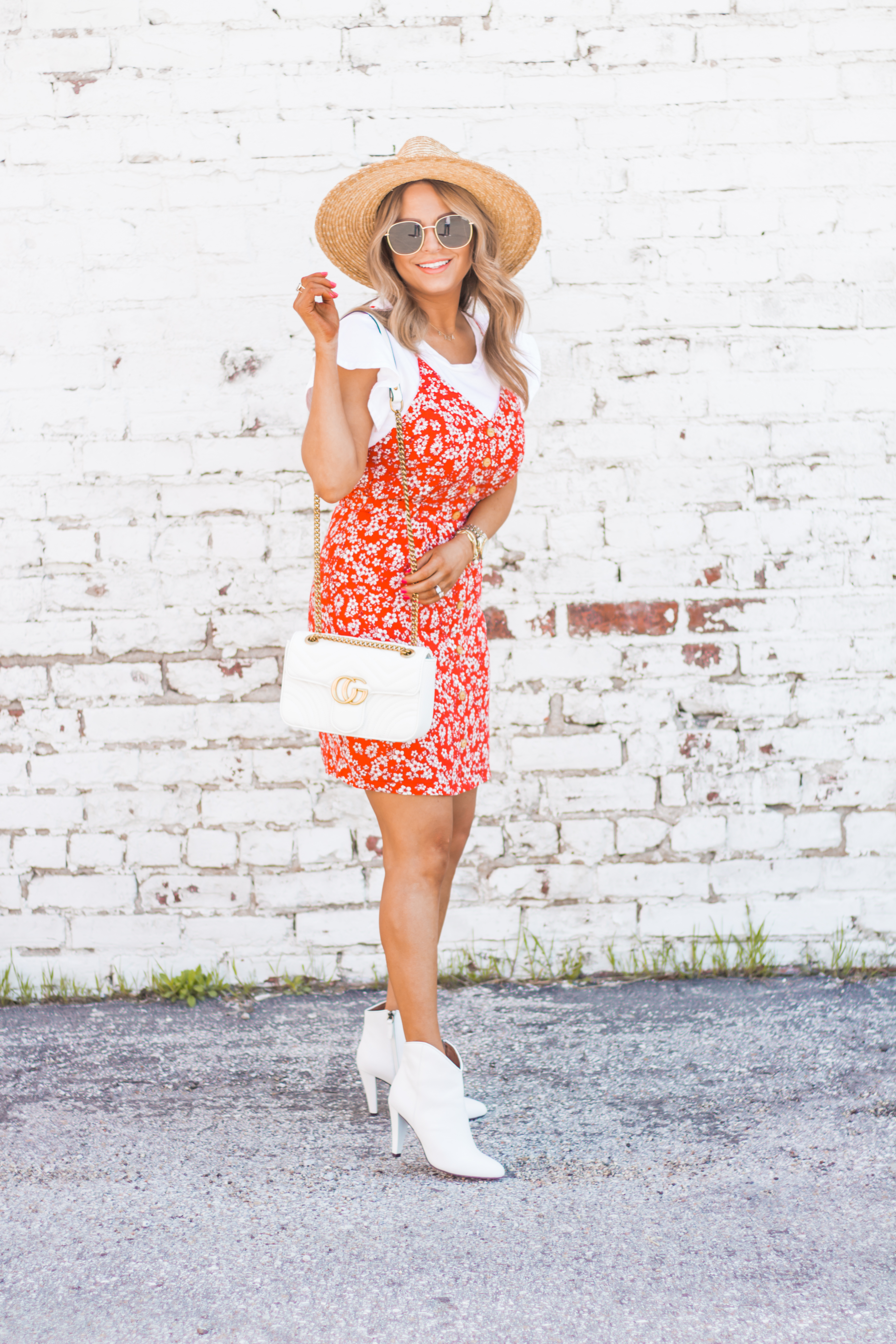 red-sundress-spring-summer-dress-floral dress-women's fashion- spring fashion-summer fashion-brixton hat-white booties-Omaha blogger-sabby style-9