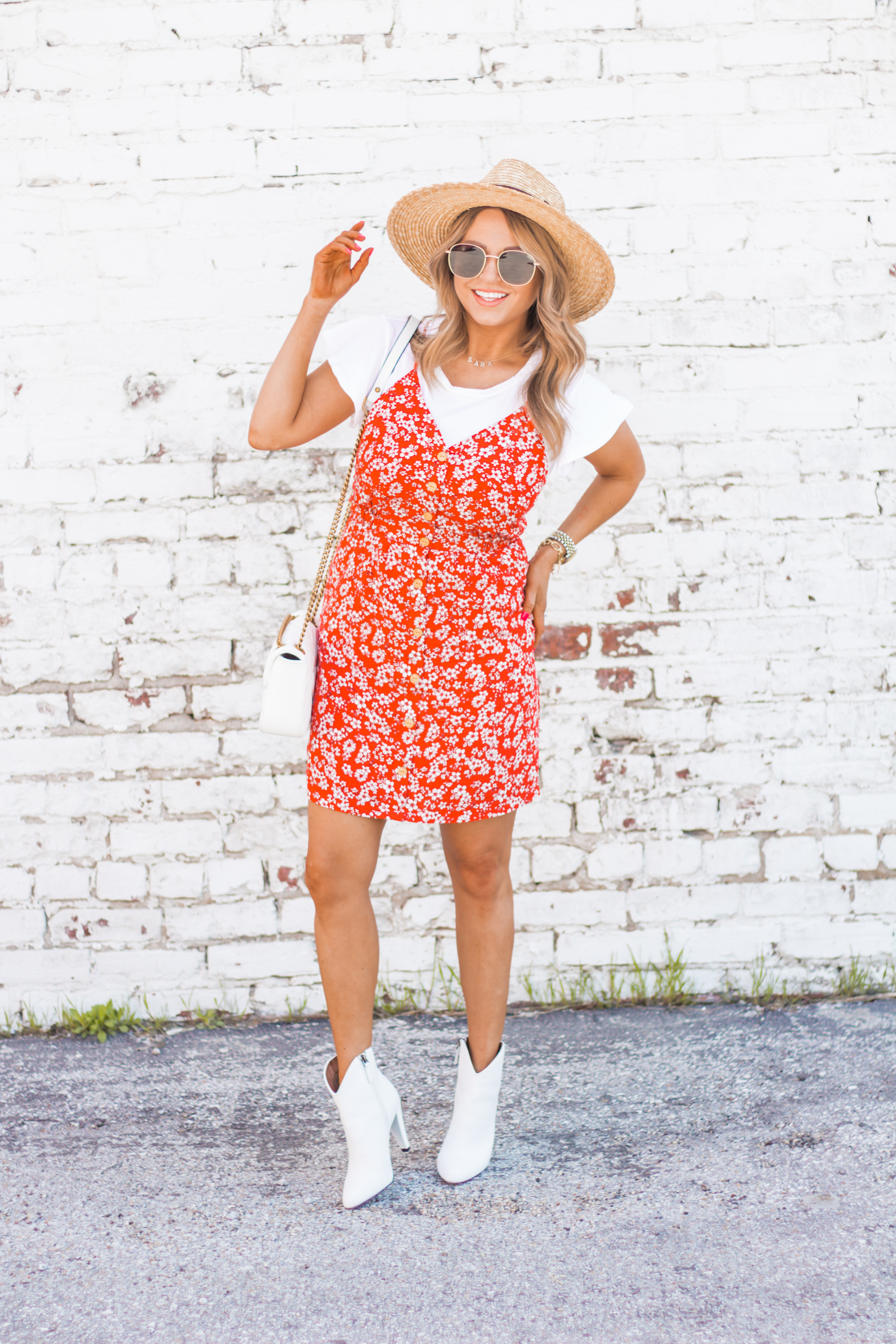 red-sundress-spring-summer-dress-floral dress-women's fashion- spring fashion-summer fashion-brixton hat-white booties-Omaha blogger-sabby style-12