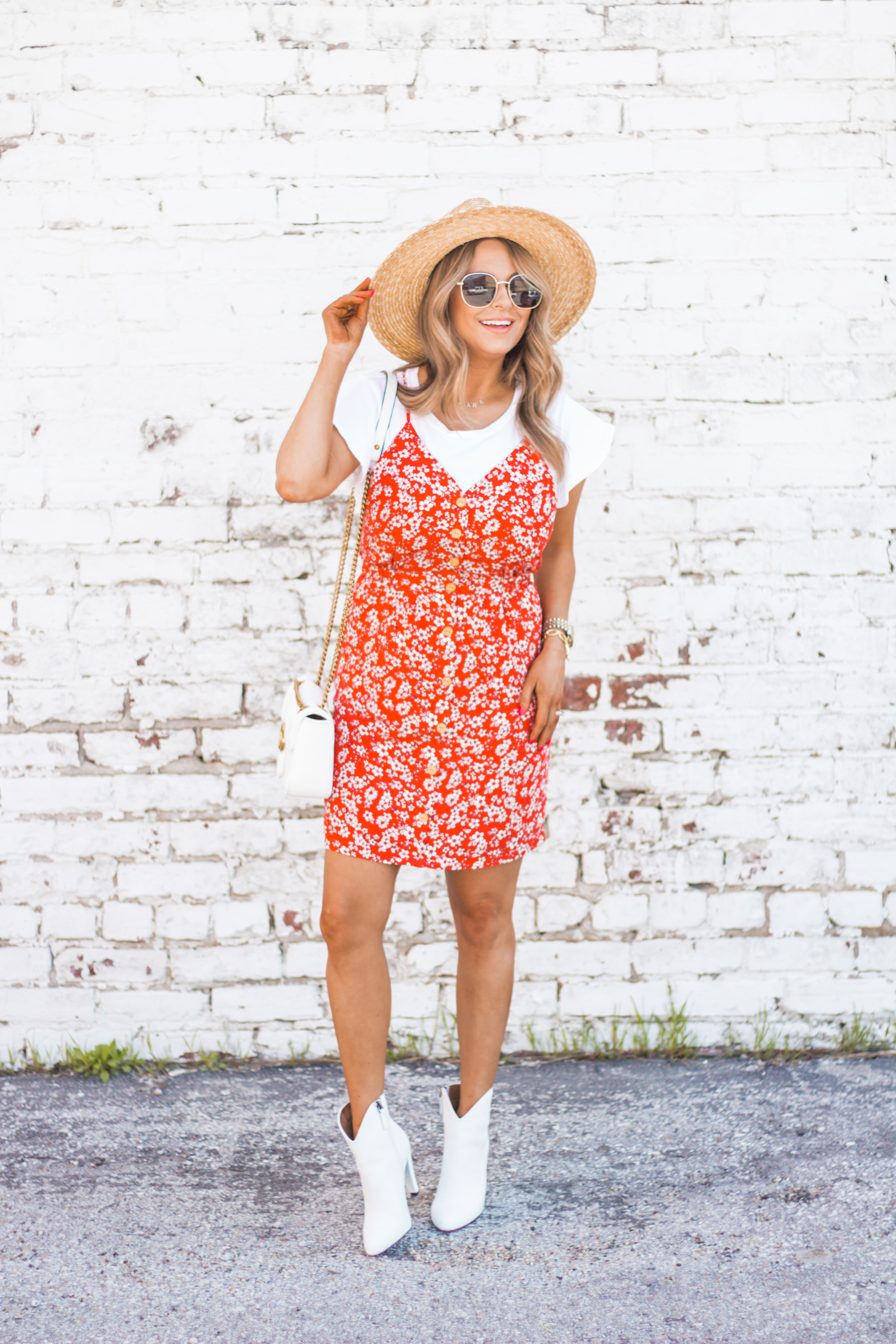 red-sundress-spring-summer-dress-floral dress-women's fashion- spring fashion-summer fashion-brixton hat-white booties-Omaha blogger-sabby style-10