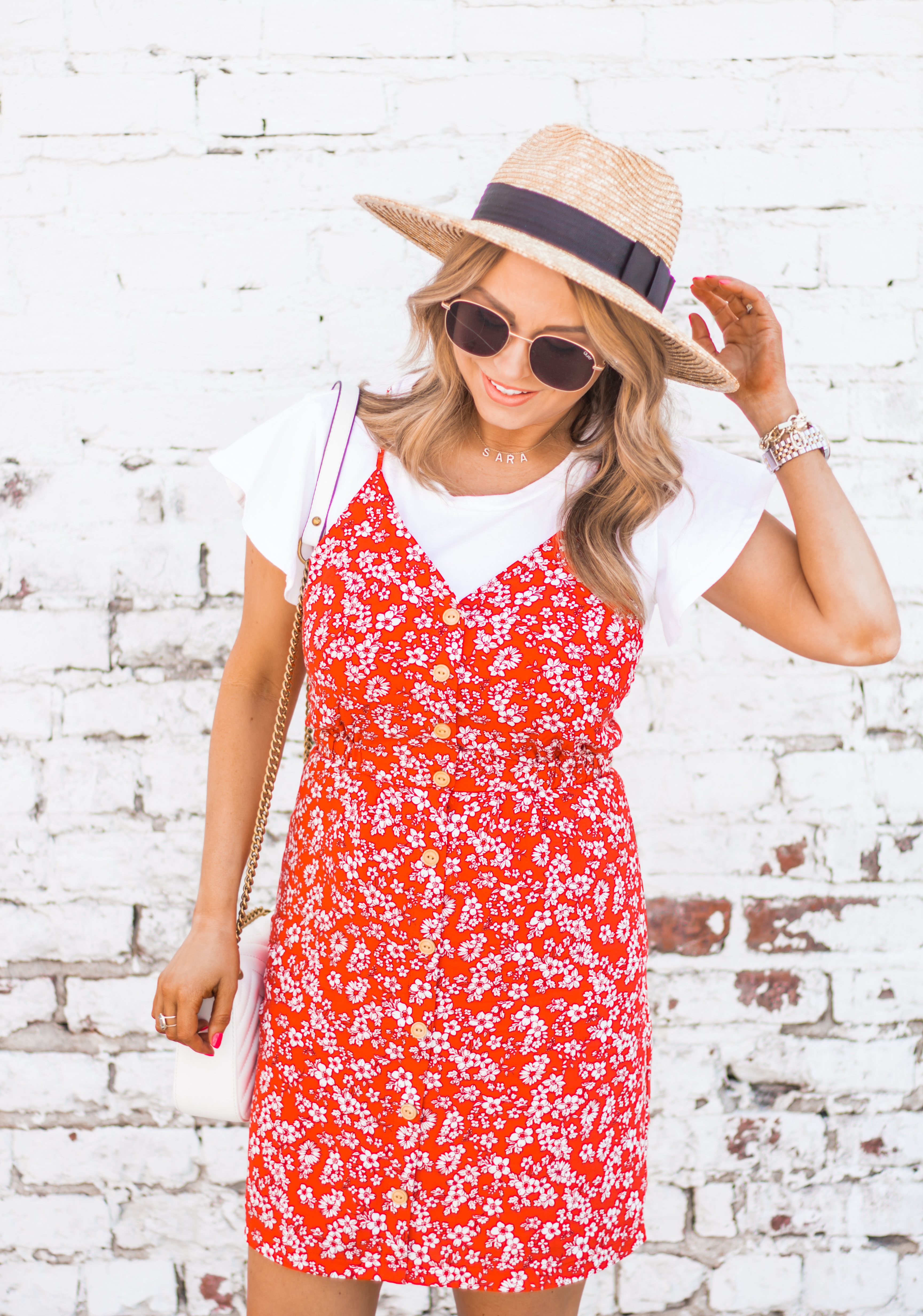red-sundress-spring-summer-dress-floral dress-women's fashion- spring fashion-summer fashion-brixton hat-white booties-Omaha blogger-sabby style-8