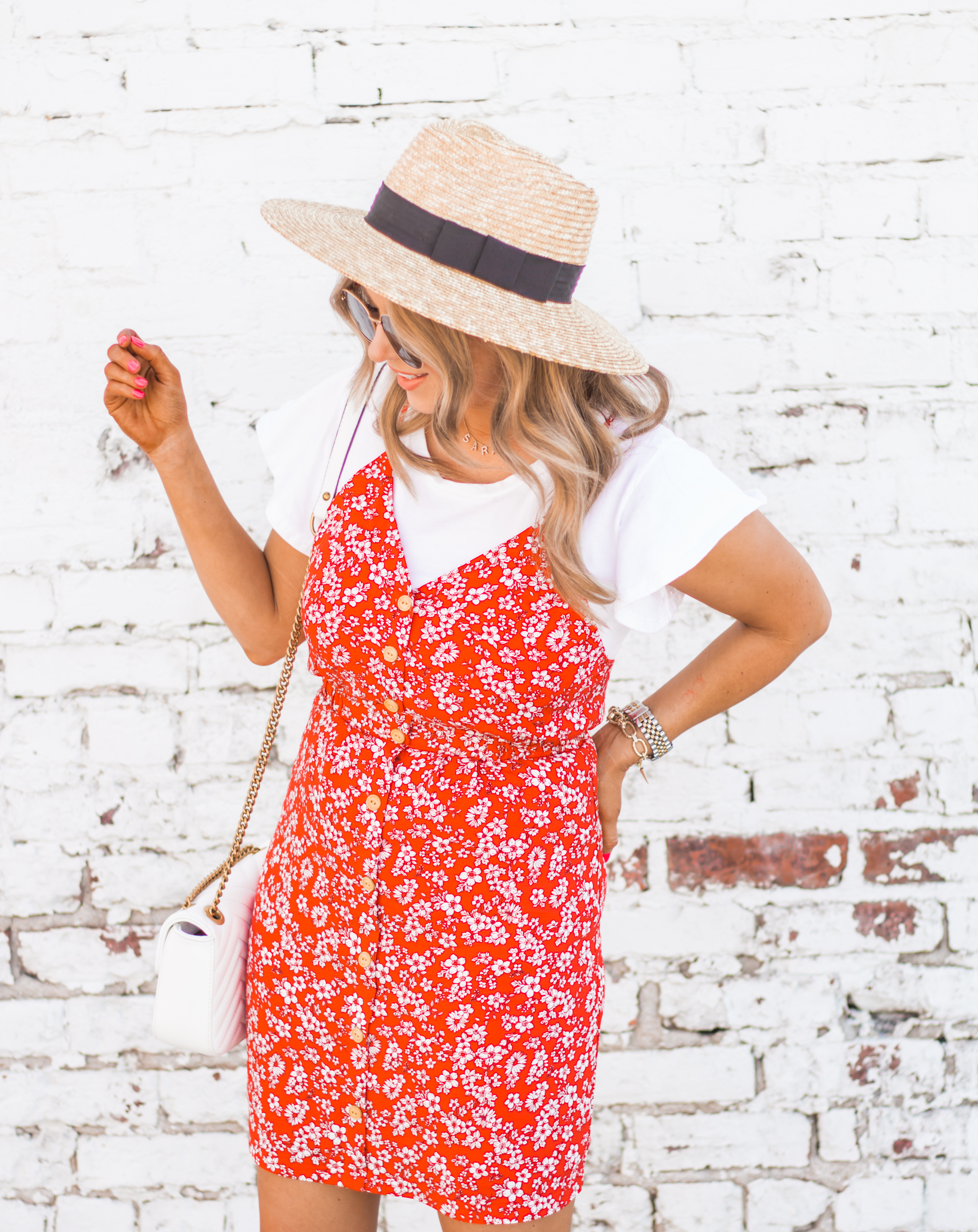 red-sundress-spring-summer-dress-floral dress-women's fashion- spring fashion-summer fashion-brixton hat-white booties-Omaha blogger-sabby style-11