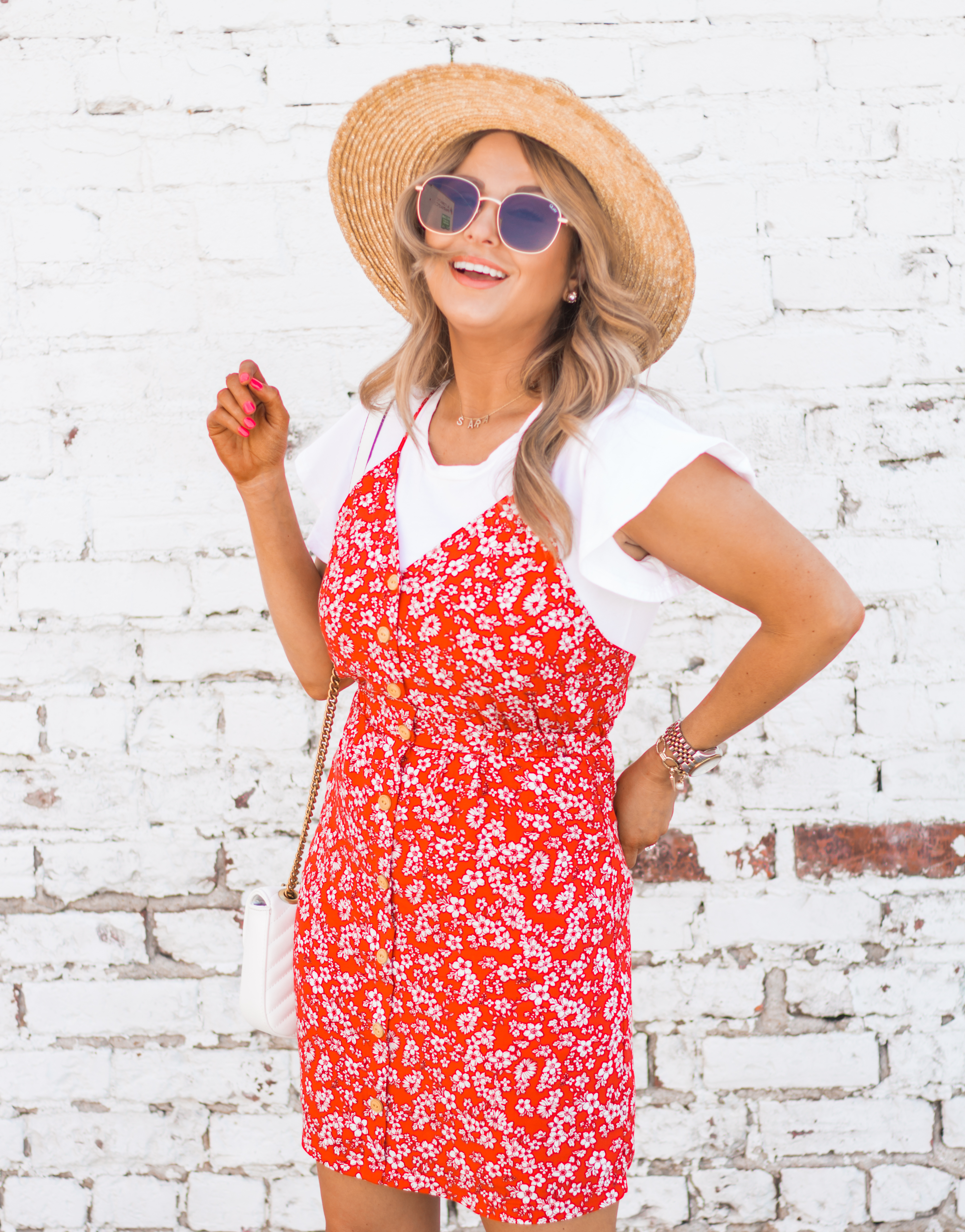 red-sundress-spring-summer-dress-floral dress-women's fashion- spring fashion-summer fashion-brixton hat-white booties-omaha blogger-sabby style-1