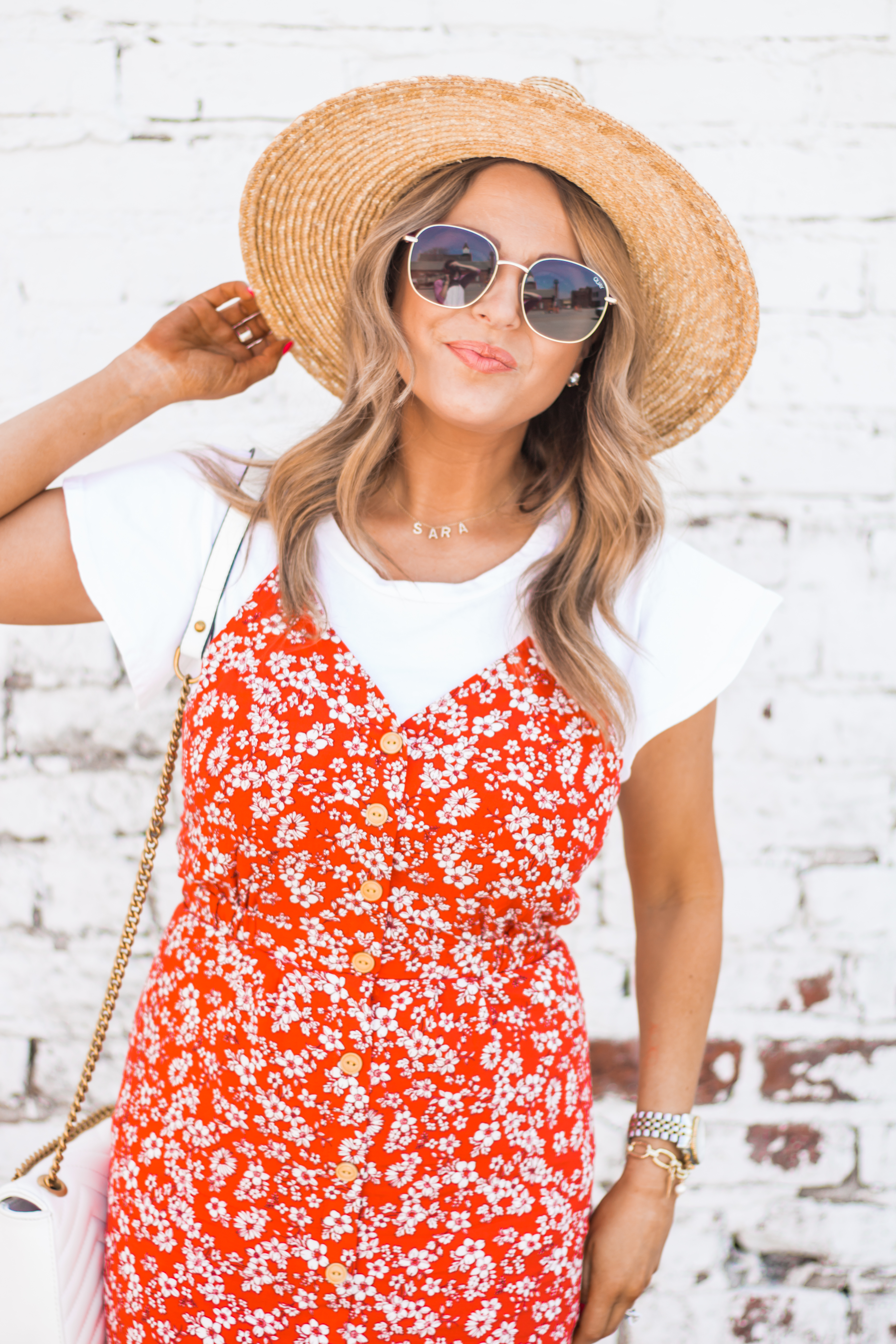 red-sundress-spring-summer-dress-floral dress-women's fashion- spring fashion-summer fashion-brixton hat-white booties-Omaha blogger-sabby style-3