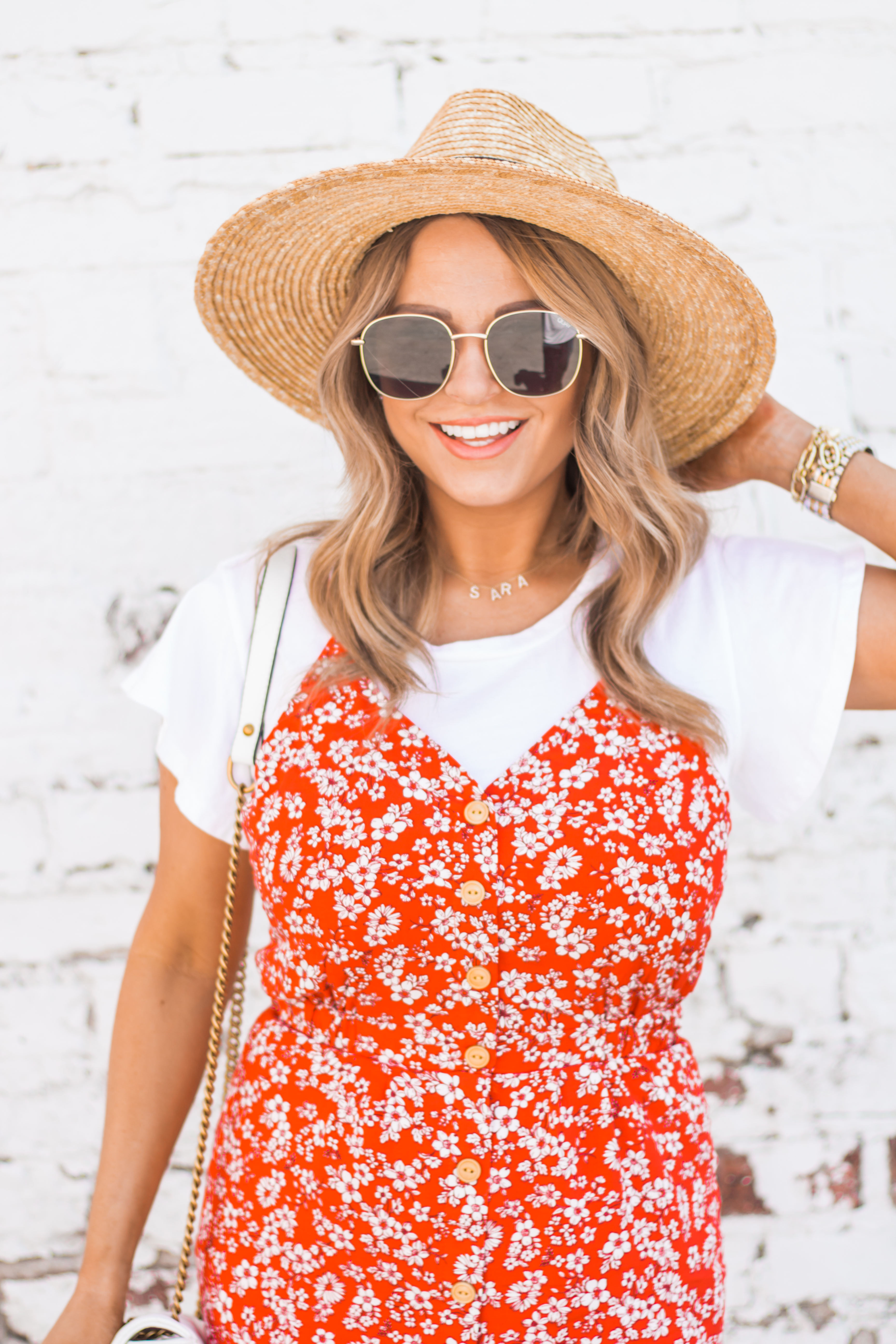 red-sundress-spring-summer-dress-floral dress-women's fashion- spring fashion-summer fashion-brixton hat-white booties-Omaha blogger-sabby style-5