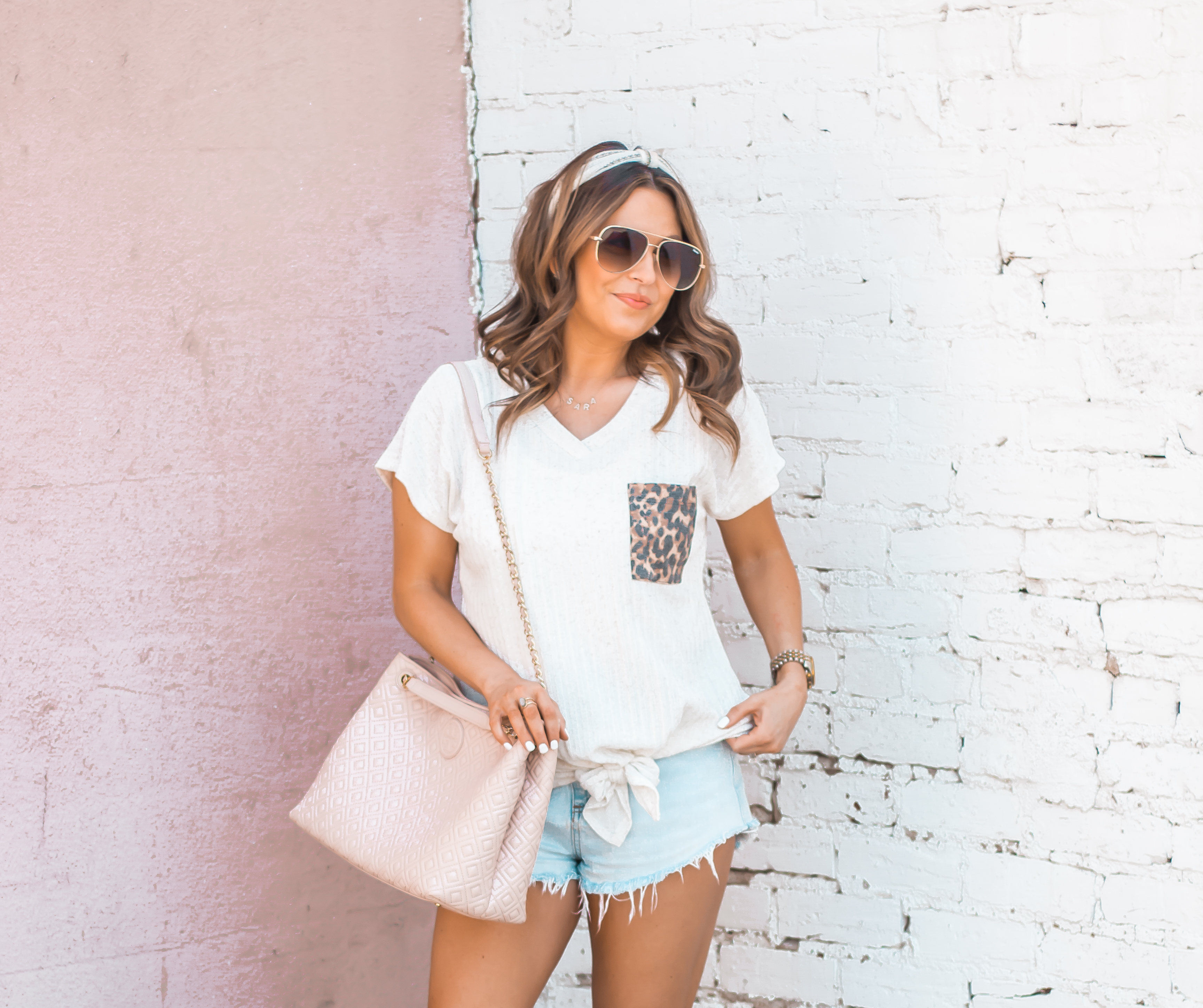 Women's Fashion-Summer Fashion-Summer Outfit Inspiration-Sabby Style-Omaha Blogger-Leopard Pocket Top-The Style Bar Boutique-Cutoff Shorts-Espadrille Wedges-Marc Fisher Wedges-Tory Burch Fleming-Quay Sunglasses-Headband Trend-Omaha-Nebraska-Midwest Blogger-15