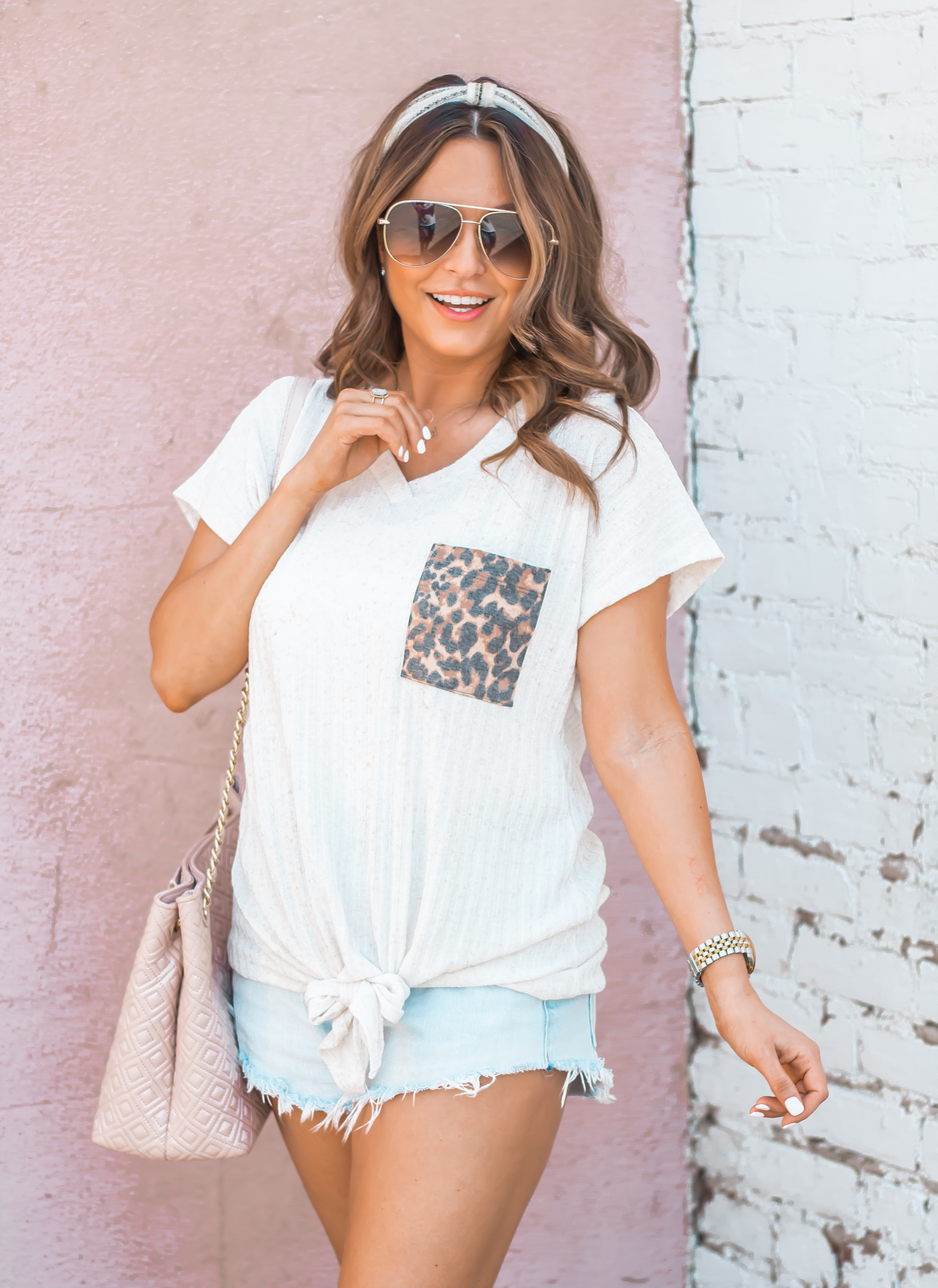 Women's Fashion-Summer Fashion-Summer Outfit Inspiration-Sabby Style-Omaha Blogger-Leopard Pocket Top-The Style Bar Boutique-Cutoff Shorts-Espadrille Wedges-Marc Fisher Wedges-Tory Burch Fleming-Quay Sunglasses-Headband Trend-Omaha-Nebraska-Midwest Blogger-13