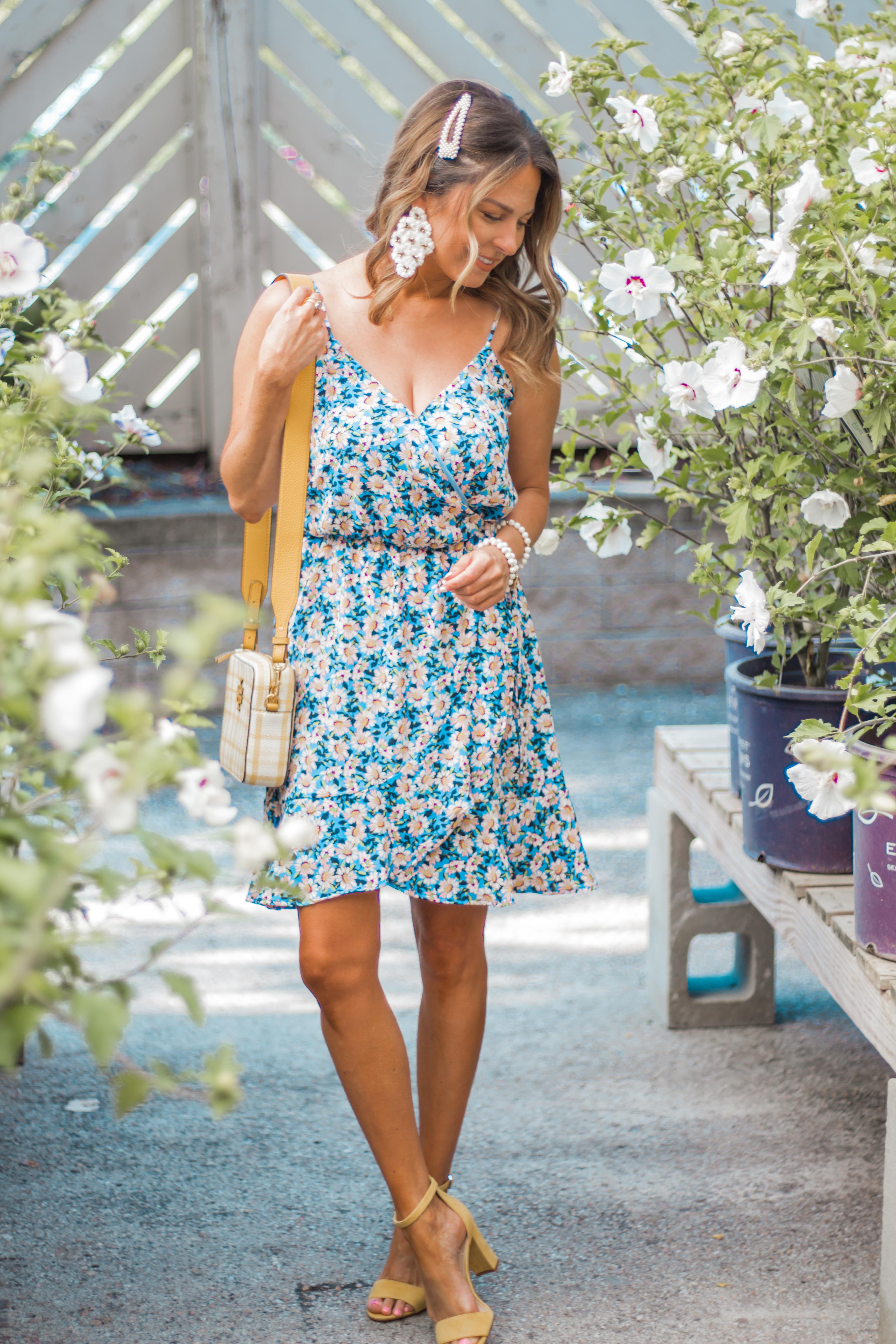 Women's Fashion-Sabby Style-Summer Fashion-Summer Dress-Pearl Barrette-Wide Brim Hat-Hair Accessories-Omaha Blogger-Nebraska Blogger-Colorful Style-Floral Dress-7